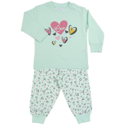 Fun2wear meisjes pyjama 'New heart' mint